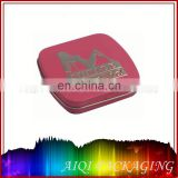 small square metal tin box for Golf ball