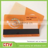Transparent plastic card with magnetic strip printing machine