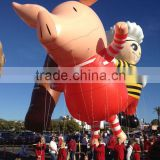Unique shape giant inflatable flying pig balloon