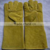 New products cow split leather heat resistant welding gloves, protection gloves for welders