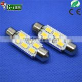 Car accessory fashionable 12v DC led car canbus festoon light 39mm samsung 5630 6SMD led strip 12month warranty