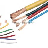 2 Core 450/750V stranded cheap electrical single wire copper conductor house wiring PVC coated wire