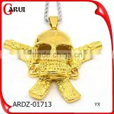 Simple gold pendant design stainless steel jewelry men skull gold pendant                                                                                                         Supplier's Choice