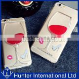 Special 3D Liquid Wine TPU Gel Case For iphone 6S