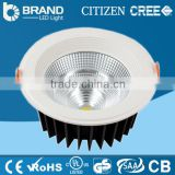 High power 60w RGB cob led downlight dimmable led downlight led recessed mounting holes 265mm downlight