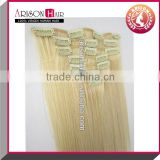 China manufacture noshedding hair goods clip in hair extension