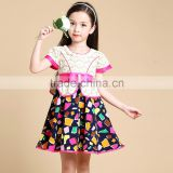 Satin Fabric Clothing Tea-Length Baby Girl Casual Dress for Clothing Imported from China