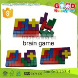 Classical Learning Games Educational Wooden Blocks- 12pcs Brain Teaser Toys Block