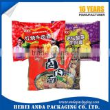 Plastic food printed packaging bag for noodles/plastic packaging film for instant noodles/spaghetti pasta packaging
