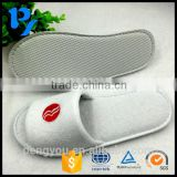 wholesale terry custom cheap hotel slippers manufacturer with embroidery logo                                                                                                         Supplier's Choice