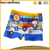 Car printing boxer swimming brief toddler infants kids boys anime swim trunks                                                                                                         Supplier's Choice