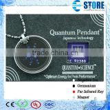 Quantum Scalar Negative Ion Pendant Stainless Steel Jewelry Blue Sky Star with SS Circle Protector Pattern