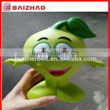 big size Custom vynil cartoon figure toys/plastic vinyl mascot toy figure/advertising vynil coin bank mascot figure