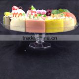 "cake plate for wedding plastic 10"" plate for cake and candy"
