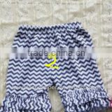 2013 wholesale ruffle pants summer kids shorts cotton chevron printed so cute baby double ruffle cotton baby pants