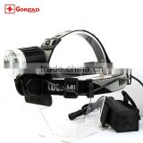 Goread T01 aluminum rechargeable high bright 3 * T6 LED headlamp