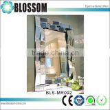 Promotional vintage bathroom wall concave makeup mirror with curved frame                                                                                                         Supplier's Choice