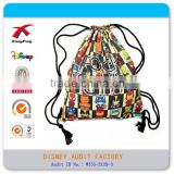 Printing customize canvas drawstring bag for mesh and shoe