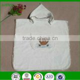 super soft terry cotton embroidered hooded baby bath towel poncho