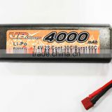 7.4V 4,000mAh Lithium Polymer Battery Pack for RC Cars with 30c Continuous Discharge Current