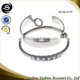 Cuff sliver bangles for 2015 fashion bracelet charms plated in sliver wholesale jewelry manufactured in China yiwu