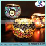 Himalayan salt decorative mosaic crackle glass church candle holder