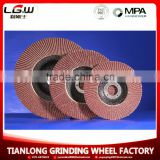 aluminum oxide abrasive flap wheel, sanding cloth flap disc