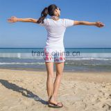 Custom swim shorts Quick drying Women dresses models casual shorts Floral swim Beach shorts