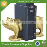Golden Pig Resin Bookends Home Decoration