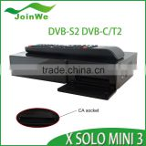 New Item for Europe dvb-t2 decoder BCM7362ZZKFEB3G Main Chipset Linux OS X SOLO MINI 3