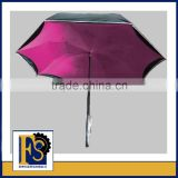 2016 new design upside down umbrella with reflective boarder and new promotion reverse inverted umbrella
