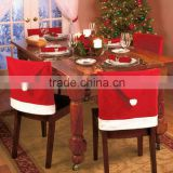 Christmas Santa Claus Hat Chair Covers Set