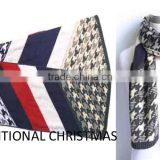 WLDL-R1642 100%Acrylic classic women traditional christmas gifts houndstooth jacquard scarf