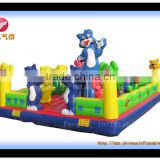attractive inflatable park, blue cat inflatable jumping bouncer for sale