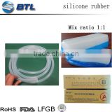 Stable dimension squeeze tube; raw silicone materials rubber for food-grade