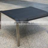 Stainless steel foot stool/ high quality stainless steel chair made in China/ leisure furniture
