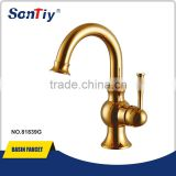 Classic gold plated single handle basin faucets mixers 81839G
