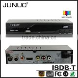 JUNUO china manufacture OEM good quality free to air tuner hd mpeg4 mstar isdb-t digital tv receiver Peru
