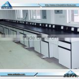 China School Laboratory Furniture Manufacturer Steel Wood Laboratory Work Bench with Epoxy Worktop