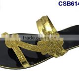 CSB6147(37-48) The newest design and different style of the slipper with stones and beads very fashionable