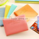 Lovely plastic Business Credit Card Holder wallet PU Leather ID Card passport Pocket purse Bag flower drivers driving license