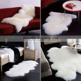 2016/2017 New Design Fashionable 100% wool sheared sheep skin animal fur rugs/blanket110*60cm