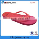 Cheapest comfortable 2015 fashion women beach flip flops summer nude PE slipper OEM design made flip flops