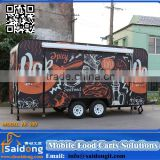 Suppling all kind of function gas/electric/oil motorcycle china mobile food cart/mobile food truck /mobile food trailer