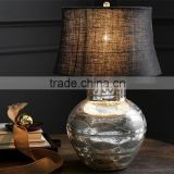 CE CUL SAA CCC best selling high quality bubble mercury glass table lamp with black silk shade