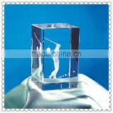 Factory Wholesale Clear 3D Laser Engraved K9 Crystal Cube