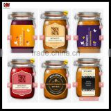 Fire Resistant Printed Label Custom Self Adhesive Sticker For Food Container
