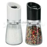SINOGLASS 1 Pc Cone Shape Mckromic Glass Grinder Jar with Plastic Top&Ceramic Mechanism Soft-Touch With Lid