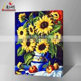 Hot sale abstract sunflower oil painting by number set painting art 2016