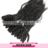 100% human hair, top unprocessed virgin hair from one donor, kinky curly indian hair braid